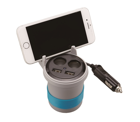 Cup Shaped Power Socket w/USB Ports