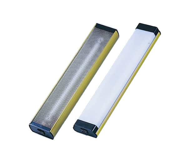 Fluorescent Light, Gold Plated Aluminum