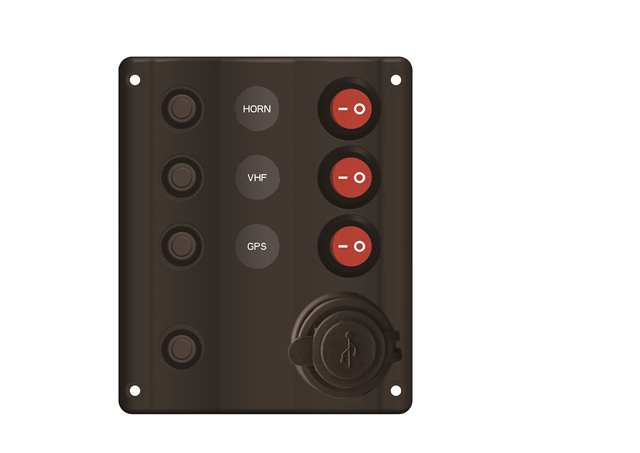 Plastic Switch Panel with USB Charger