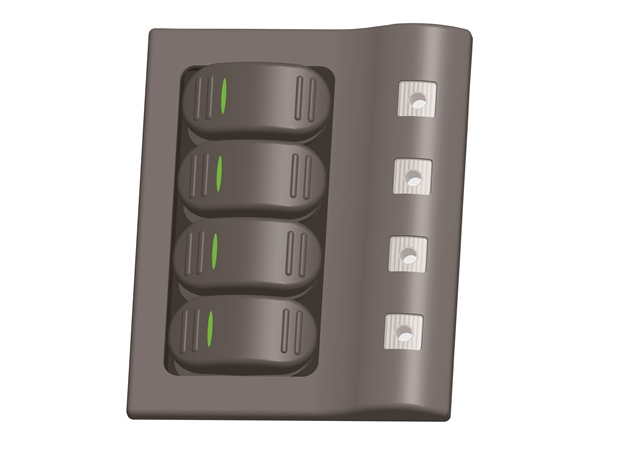 Plastic Switch Panel, 4 Gang
